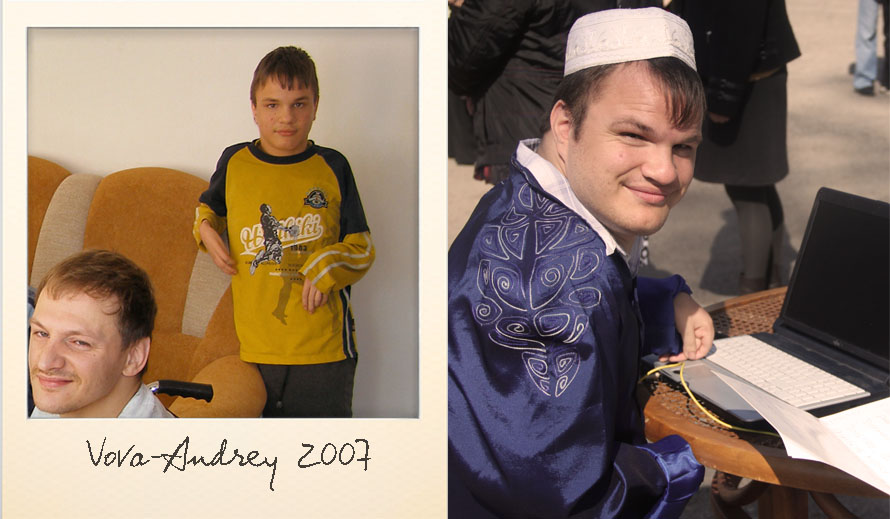 Andrey at the Ark Village in 2007 and in 2013