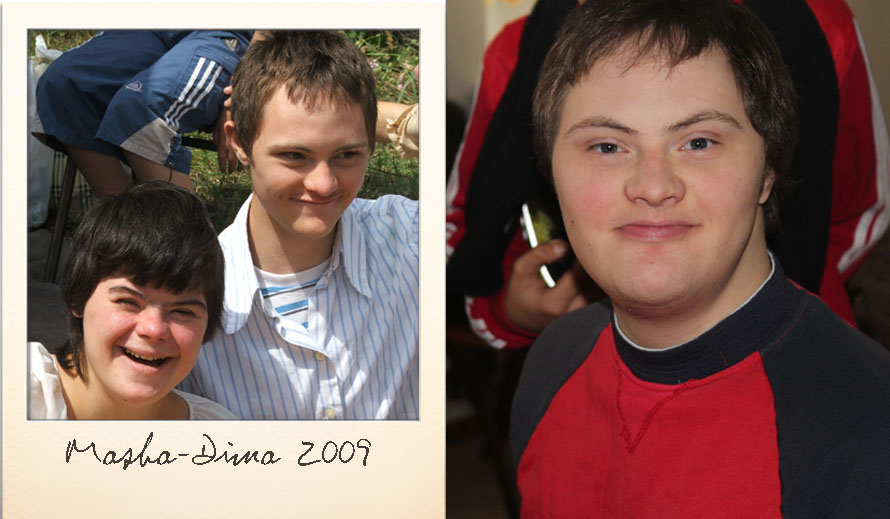 Dima at the Ark Village in 2009 and in 2014