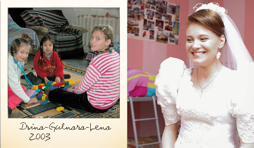 Lena at the Ark Village in 2003 and in 2015