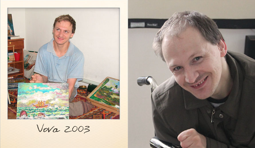 Vova at the Ark Village in 2003 and in 2014