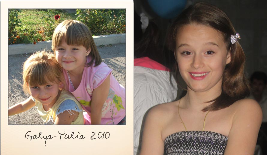 Yulia at the Ark Village in 2010 and in 2015